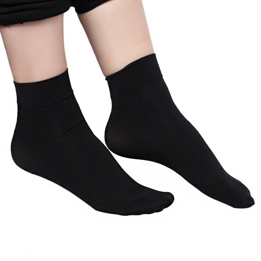 1 Pair Women Summer Sexy Ultrathin Transparent Silk Socks -5025
