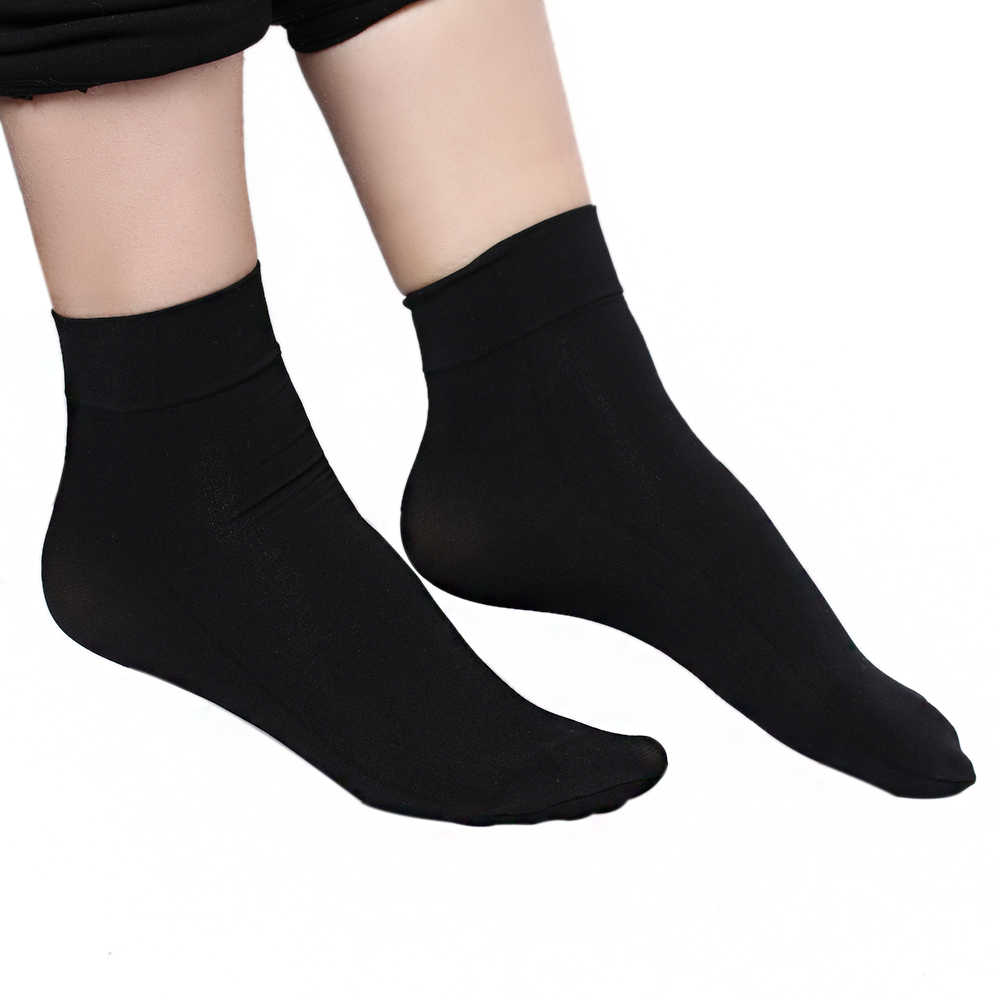 5aa66fc43 1 pair Women Summer Sexy ultrathin transparent Silk Socks For Woman Female  Elastic Nylon Skin Short