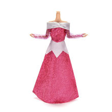 Princess Wedding Dress Fairy Tale Gown Copy Sleeping Beauty Aurora Clothes Outfit For Barbie Doll Kurhn Toy Dressing(China)