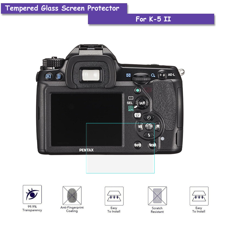 9H Tempered Glass LCD Screen Protector Real Glass Shield Film For Pentax K5-2 K5II K5-II ...