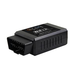 Image 3 - ELM327 – outil de Diagnostic automobile V1.5, lecteur de code de voiture, WIFI, prise OBD2, prise OBDII, Scanner, voyant de contrôle du moteur, noir