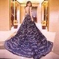 Robe de soirée a line tulle beading traseira aberta longos vestidos de noite formal elegante vestido de festa bt02