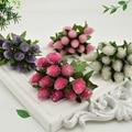 Шт. 12 шт. искусственный клубничный цветок букет для вечерние вечеринки свадебные украшения автомобиля DIY Скрапбукинг венок поддельный цветок - фото