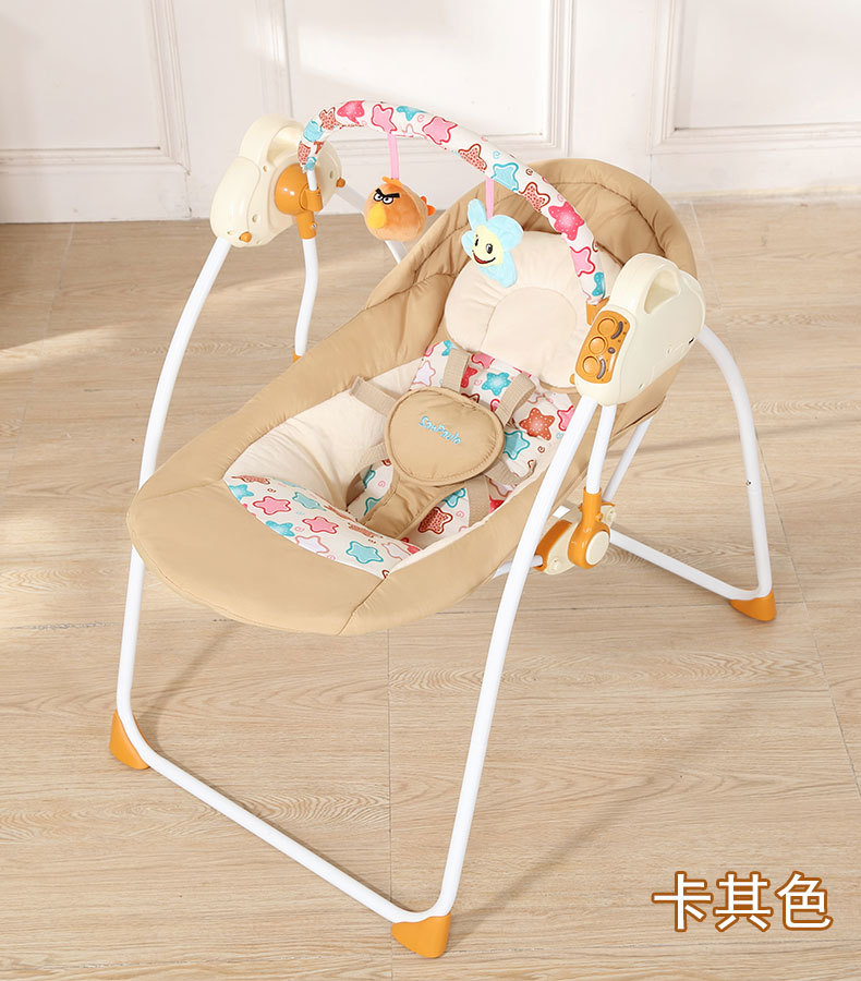 Baby Sleeping Chair Cup Holder Fashion Bouncers Swings Foldable Portable Electric Rocking With Music Safe Basket Sku 32854581307