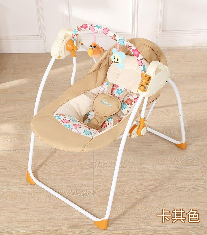 Mode bébé videurs balançoires pliable Portable électrique bébé chaise à bascule avec musique coffre-fort bébé panier de couchage - 3