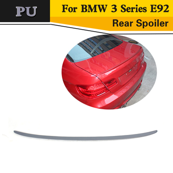 PU unpainted grey primer Trunk Racing Spoiler For BMW 3 Series E92 2007-2012 image