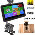 "7"" Car GPS Navigation DVR Recorder Camera Android 1080P 512MB 8Gb Vehicle GPS Navigator Sat Nav With Rear View Camera Free Maps"
