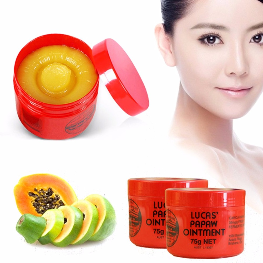 75g Lucas Papaw Ointment Multifunctional Lip Protector Moisturizing Lip Balm Diaper Rash Cream Papaya Skin Rash Cream nyx simply vamp lip cream