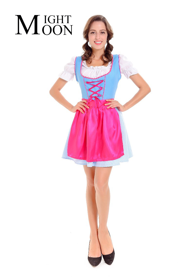 MOONIGHT 2019 New Anime Role-Playing Cartoon Halloween Costumes Maid Cosplay Outfit Comic For Women Costume Dress+Top+Apron