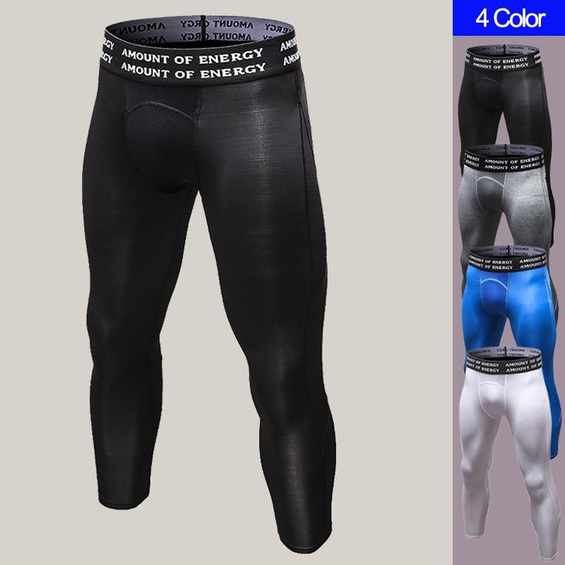 Compression Pants Men Sport Running Pants Elastic Joggers Spandex Tights Men Sweatpants Fitness Men Skinny Baskertball Trousers