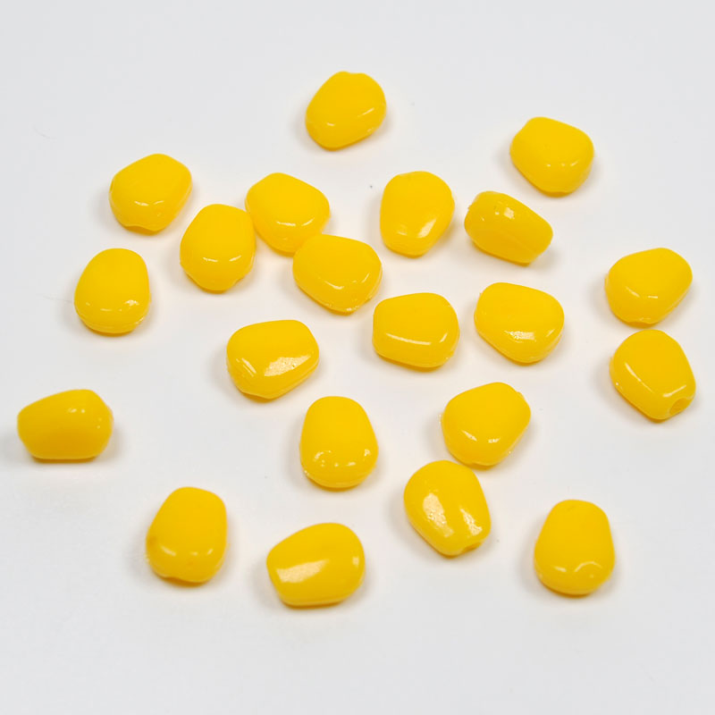 [100PCS/Pack]  Soft Plastic Fake Corn Maize for Carp Fishing Artificial Carping Bait Lure Rig 50pcs lot new reprap 3d printer m6 26 printer nozzle throat with teflon tube for 1 75mm or 3 0mm for e3d v5