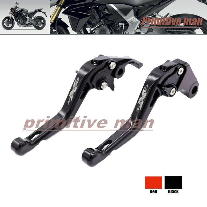 ФОТО For HONDA NC700S/X 2012-2013 Motorcycle Short Brake Clutch Levers LOGO NC700 Black