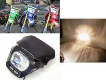Black 35W Off Road Dual Sport Dirt Bike Enduro Black Motorcycle Headlight for Honda CRF Free Shipping
