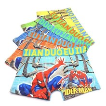 5 pcs/lot Children Spider-Man Boxer Shorts suit for Student Boys Cartoon Underpants