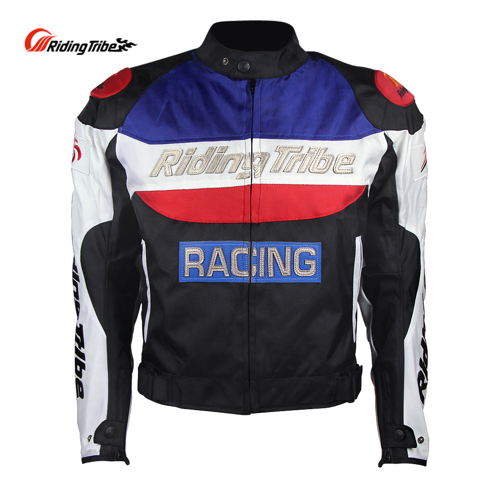Riding Tribe Motorcycle Jacket Motocross Off-Road Racing Sports Armor with 5 Protectors Full Season Cloth Removable Cotton Liner цена