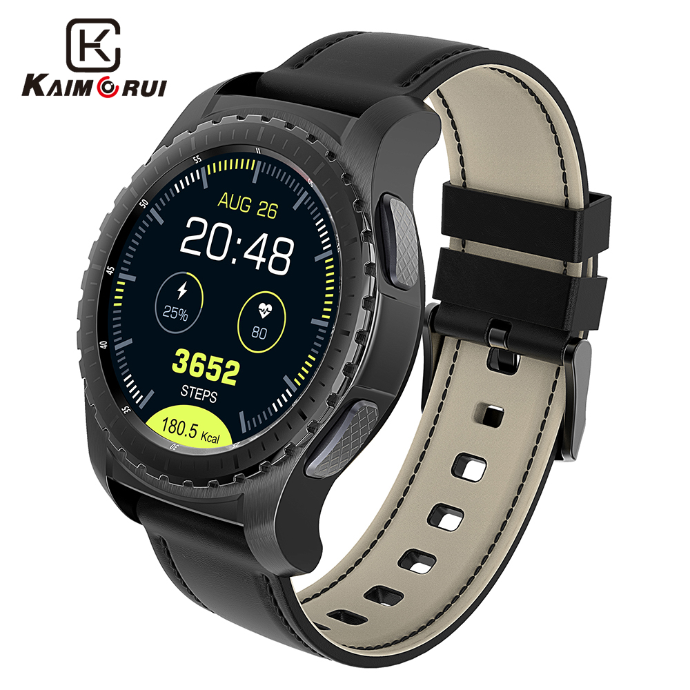 Kaimorui Bluetooth Smart часы KW28 Поддержка SIM/карты памяти Для мужчин Smartwatch Фитнес трекер сердечного ритма часы для Android IOS Телефон