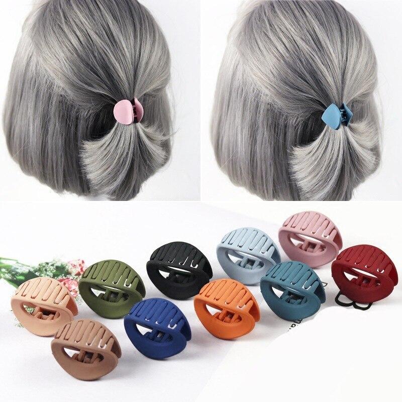 10 PCS Japan Korean Style Women Hair Claw Acrylic Hair Clips Barrette Crab Clamp Hair Pins Ornaments Women Hairwear Accessories