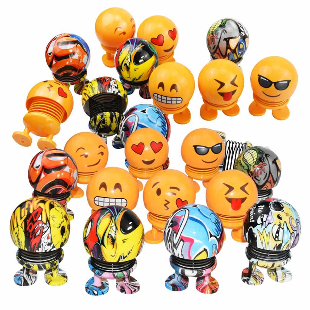 Primavera Bonito do Smiley Boneca Ornamento Car Painel Interior Decoração Brinquedos do Salto Para bmw e46 x1 x3 x5 para Honda para toyota 2019