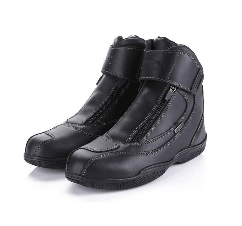 How-yes ARCX 100% bottes de moto imperméables chaussures de course en cuir de haute qualité motorcross bottes de protection couleur noire 39-45