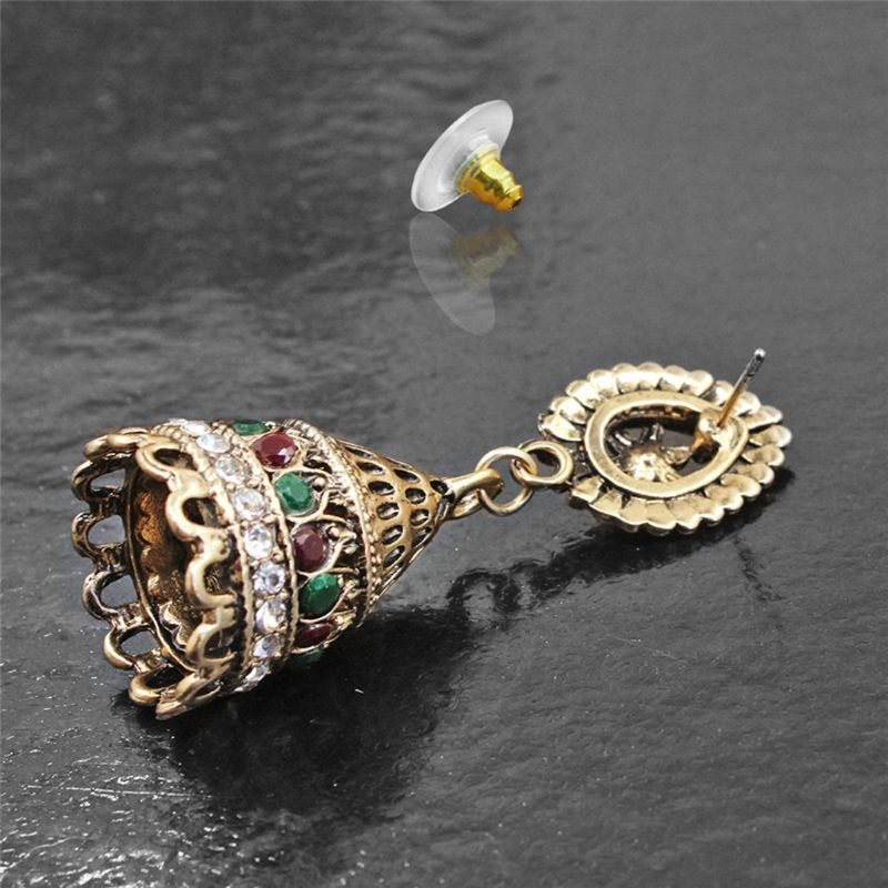 Jewelry & Accessories Oxidised Plated Gold Jhumka Indian Unique Ethnic Bollywood Drop Earrings Jewelry