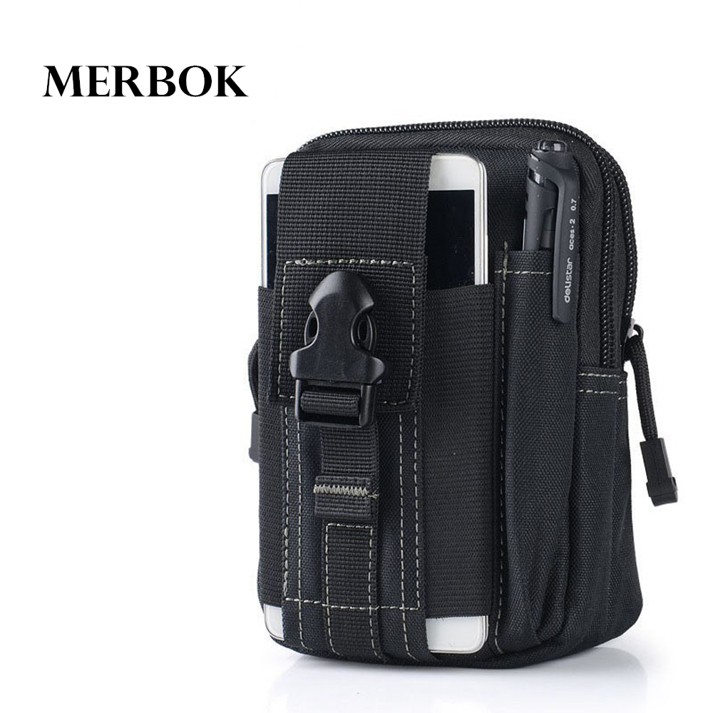Molle Sport Waist Pack Purse Mobile Phone Bag For Lenovo A760 A628T A850 S650 / A 760 850 638T S 650 / K910 Flip Cover Case
