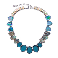 Geometric Blue Resin Chunky Choker Necklace For Women 2017 Online Shopping India Statement Necklace Jewelry