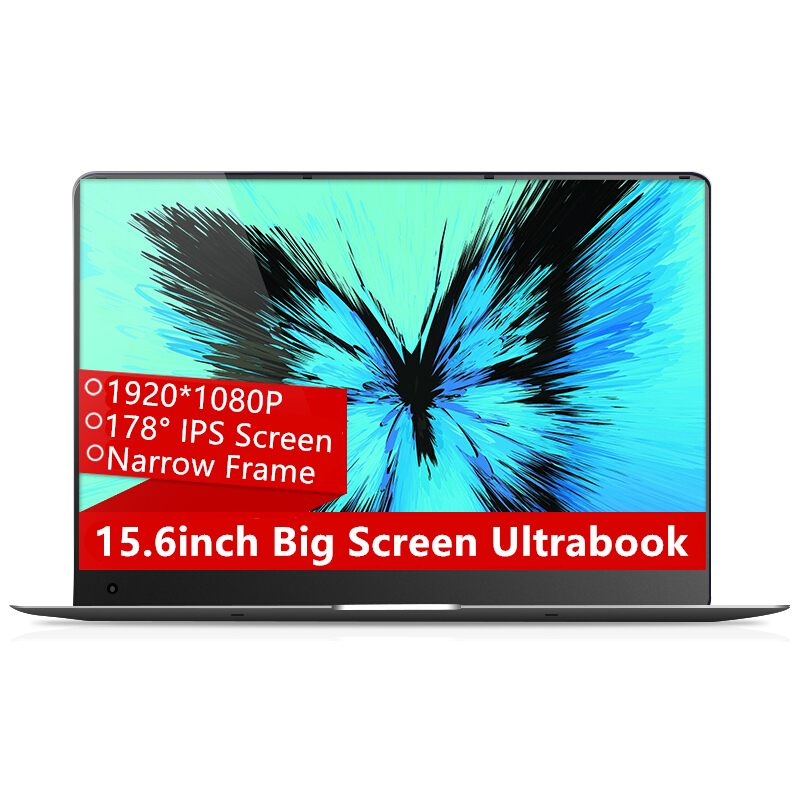 Amoudo-X5 15.6inch 1920*108P IPS Screen Intel Atom CPU 4GB Ram 64GB Rom Windows 10 System Fast Boot Laptop Notebook Computer