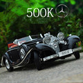 The Simulation Model of 500K Alloy Car Model of Retro Vintage Car Ornaments Christmas Gifts Juguetes Kids Toys for Children