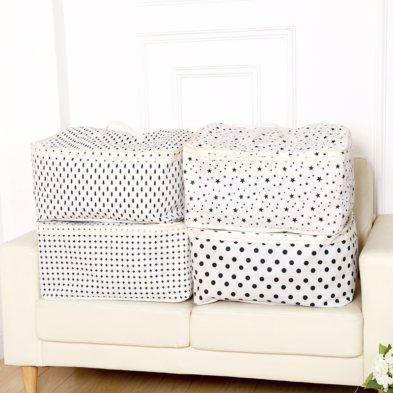 Big quilt storage bag waterproof cotton clothes 52*41*26cm  free shipping