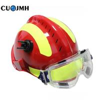 1 Set Outdoor Safety Helmet Climbing Emergency Rescue Helmet Firefighter Rescue Helmet Suits Durable Safety Reflective Helmet