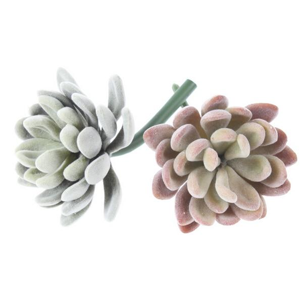 Mini Echeveria Elegance Yapay Etli Bitki Plastik Çiçek Dekorasyon - Tatiller ve Partiler Için - Fotoğraf 3