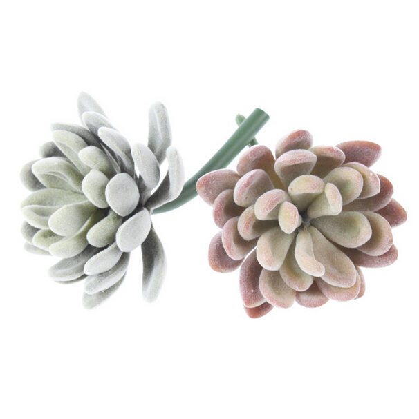 Mini Echeveria Elegance Artificial Succulent Plant Plastic Flower Decoration Green Plant Wall Background Store Display Flower
