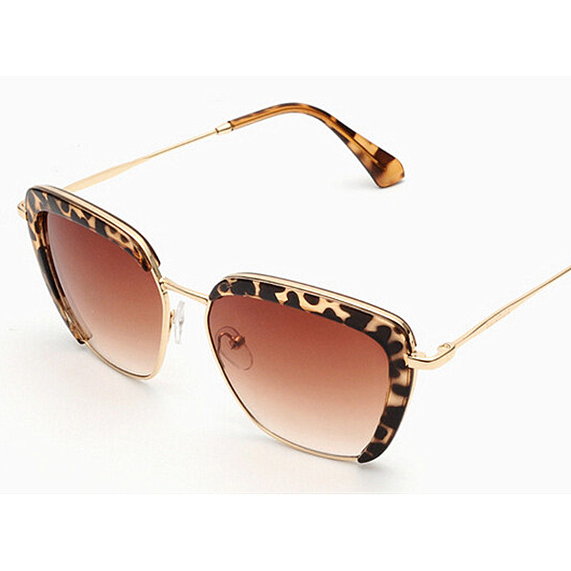 New fashion sunglasses women brand designer semi rimless sunglasses vintage metal arm for women What style glasses are in fashion 2015