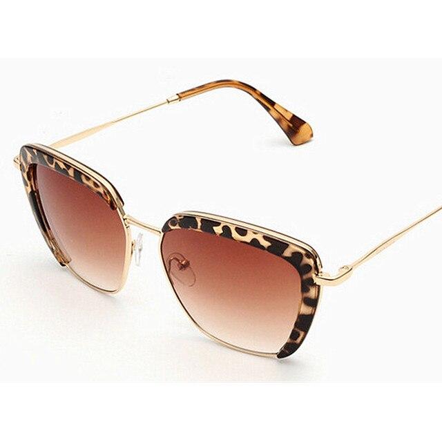 67117abab6 New Fashion Sunglasses Women Brand Designer Semi Rimless Sunglasses Vintage Metal  Arm For Women Sun Glasses