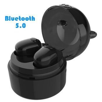 Bluetooth 5.0 TWS Earphones Cute Twins Wireless Handsfree Binaural Headsets Cordless Mini Sport Twins Earbuds with Charging Box