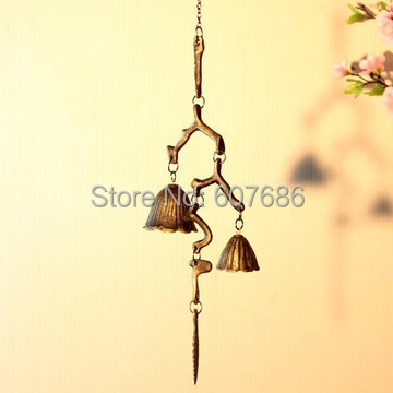 3 Piece Japanese Style Cast Iron Branch Wind Chimes Home Garden Courtyard Hanging Metal Windchimes Bell Decoration Free Shipping