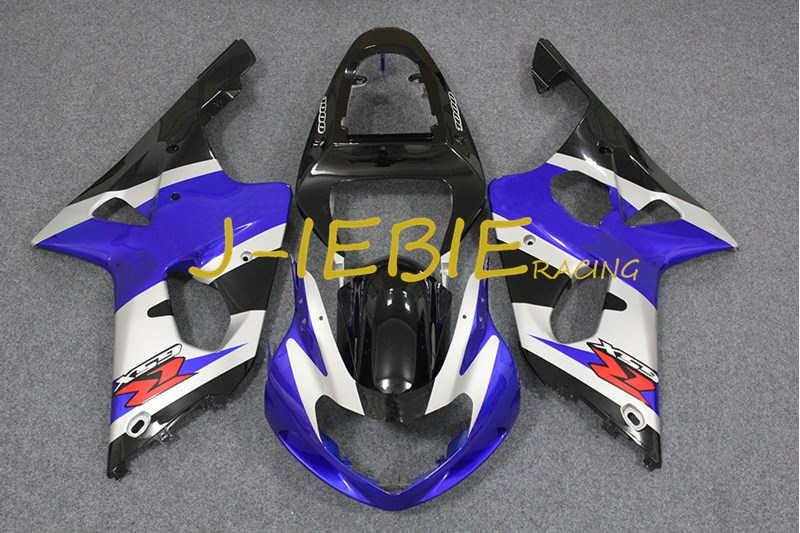 Blue white black Injection Fairing Body Work Frame Kit for SUZUKI GSXR 1000 GSXR1000 K1 2000 2001 2002 injection molded abs plastic bodywork frame fairings kit for suzuki gsxr 750 yellow black gsxr racing 2000 2001 2002 2003