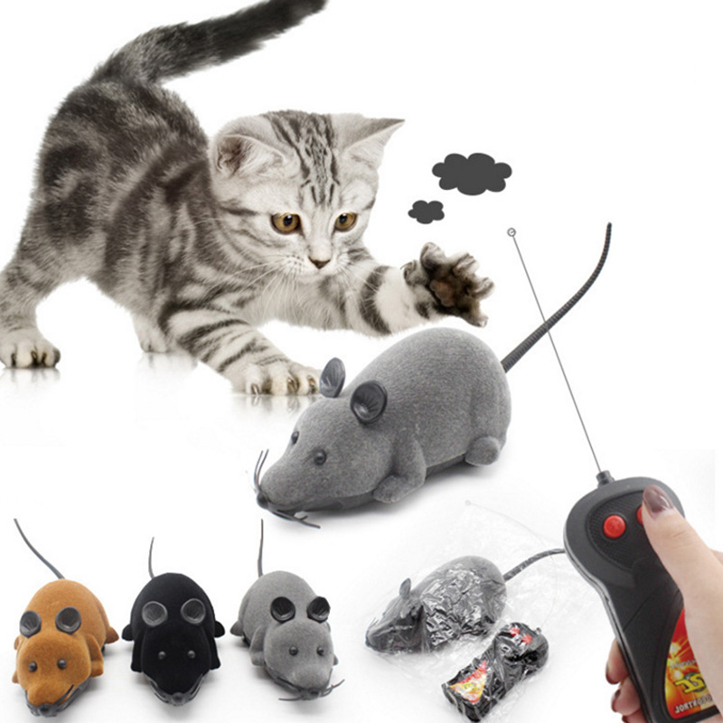 Cat Interactive Toy Remote Control Mouse Robot Funny RC Mice Wireless Electronic Cat Teaser Toy Pet Supplies Play With Your Pet