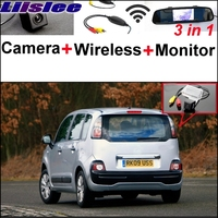 Liislee 3 in1 Special Rear View Camera + Wireless Receiver + Mirror Monitor Back Up Parking System For Citroen C3 Picasso