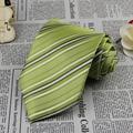 Nueva Luz Verde A Rayas hombre Corbata Partido Boda Del Novio Corbata G334