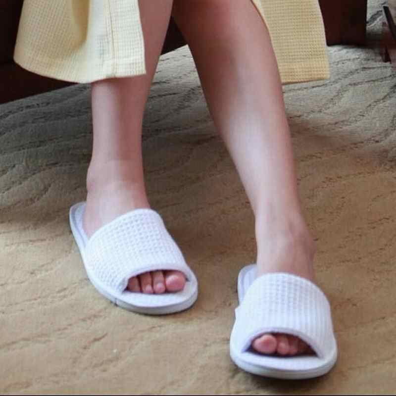 1Pair Towel Hotel Disposable Slippers Travel Spa Guest Shoes HGBE