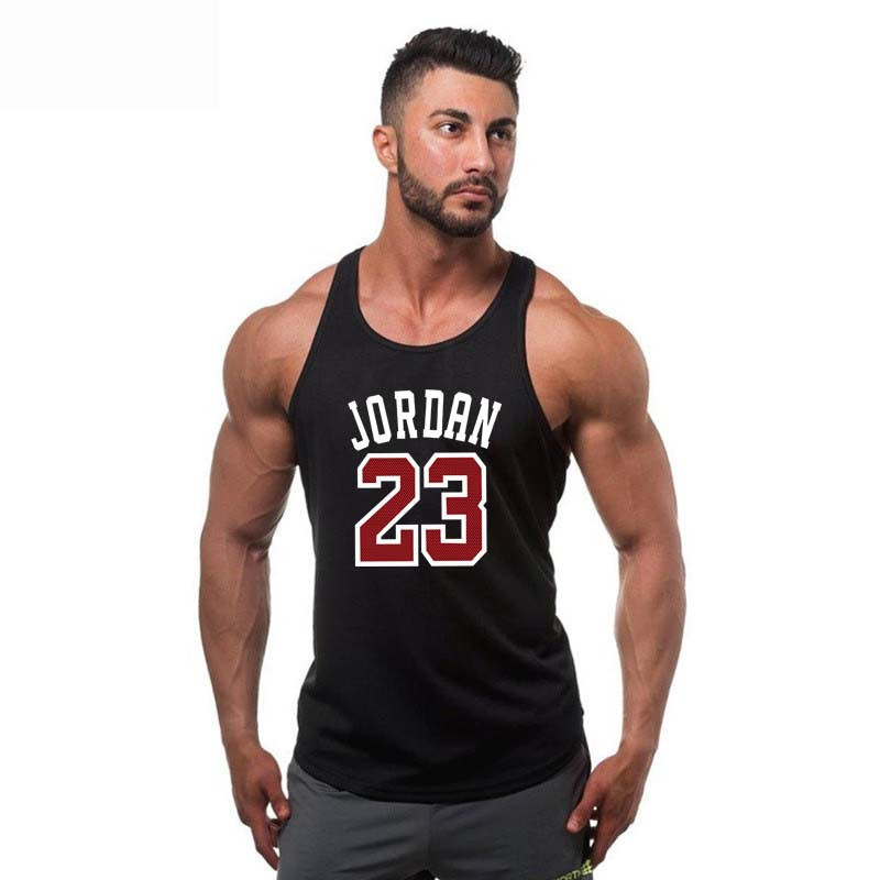 2018 Men   Tank     Tops   Jordan 23 letters Printed Breathable Bodybuilding Sleeveless   Tank   Jersey Hip Hop Street wear MQ247