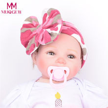 Baby Infant Kids Girls Bowknot Hairband Turban Bowknot Headwrap Hairbands Lovely Children Camouflage Headband Accessories(China)