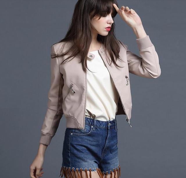 Женщины кожаная куртка женщины искусственная кожа полупальто мягкий тонкий мотоодежда Jaquetas де Couro весте Cuir роковой