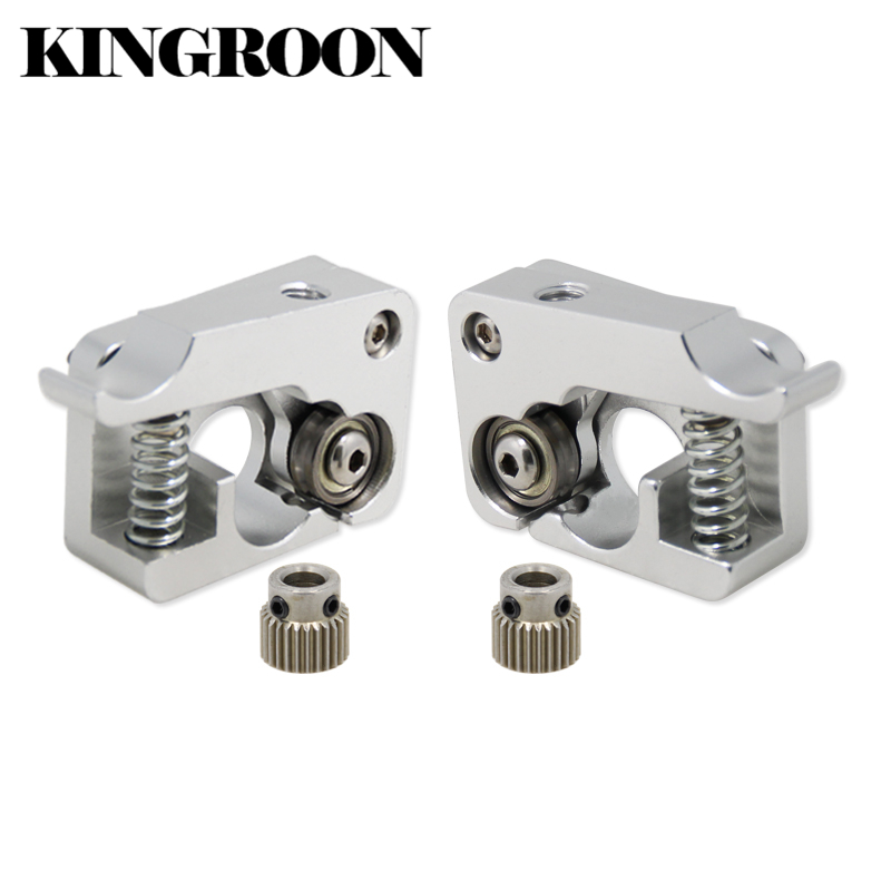 MK10 Remote Direkten Extruder Aluminium Teil Extrusion 1,75mm Rechts Links Arm Voller Metall Bowden 3D Drucker Teile Aluminium