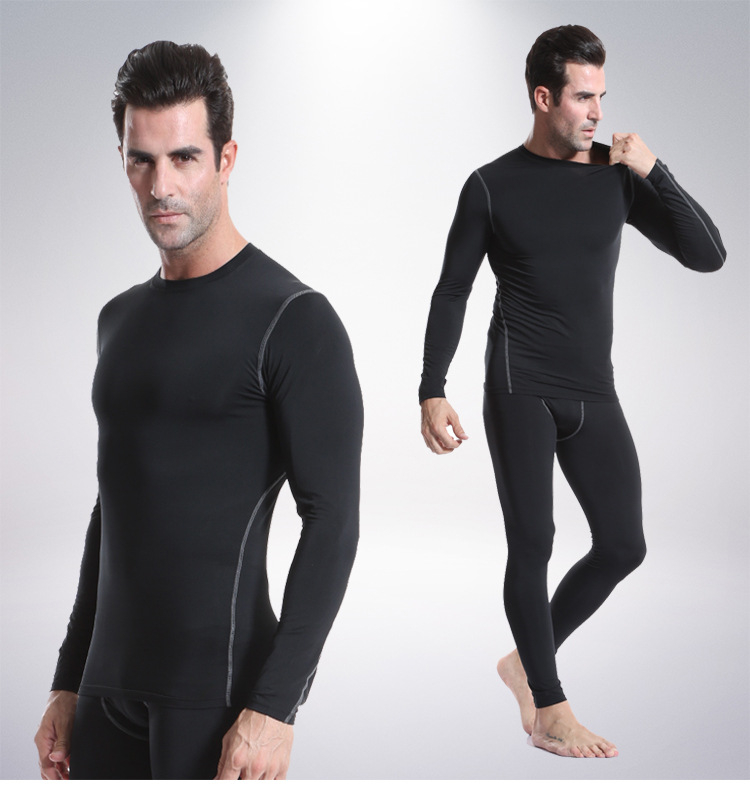 Image 3 - Yuerlian Long Sleeve Men shirt compression sports TShirt Fitness Man T Shirt dry fit running training GYM tops for male-in Running T-Shirts from Sports & Entertainment on AliExpress