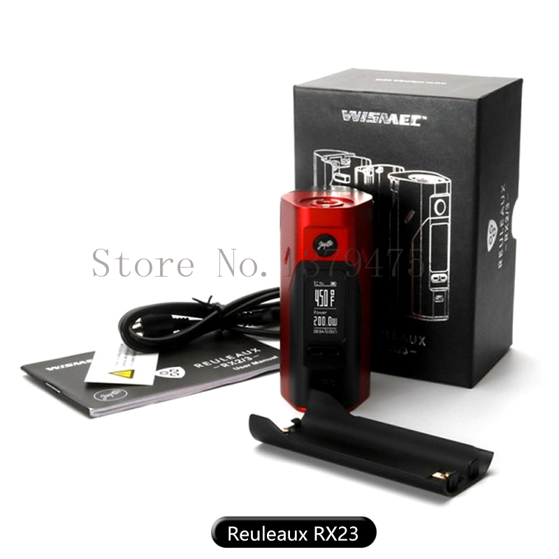 ФОТО Authentic Wismec Reuleaux  RX2/3 TC Box Mod Upgradeable Firmware 150/200W 18650 Battery  RX2-3 Temp Control Box Mod 1Pcs/Lot