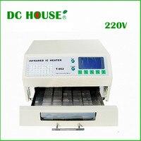 ЕС наличии T 962 220 V настольная печь инфракрасный нагреватель пайки машина 800 W 180x235 мм T962 для BGA SMD SMT паяльная