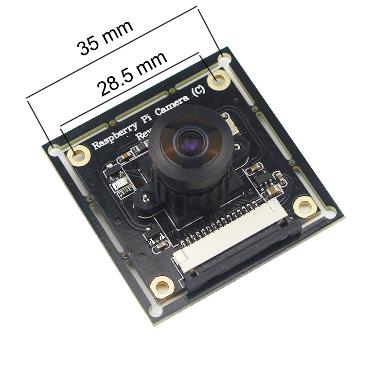 Image 4 - Raspberry Pi 3 B+ Camera Module OV5647 Fish Eyes Wide Angle Camera Focal Adjustable for Doorbell Monitoring Camera Module-in Demo Board Accessories from Computer & Office