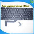 "5PCS---Brand New UK keyboard+100pcs keyboard screws For MacBook Pro Retina 15.4"" A1398 2013-2015 Years"